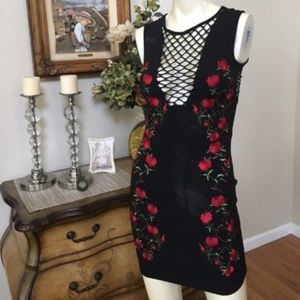 NWT LF/Call me Eden Embroidered LBD XS